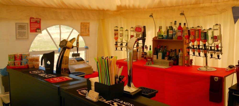 Outdoor bar at an East Lothian Event