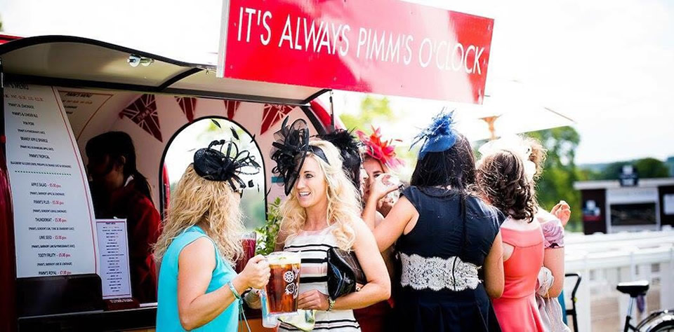 outdoor bar at musselburgh races in east lothian