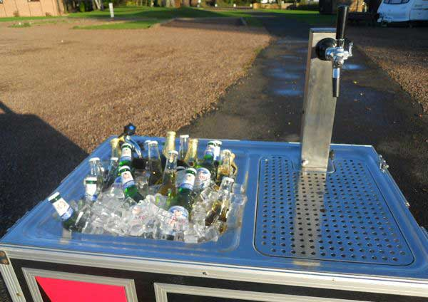 Outdoor Bar with Fridge