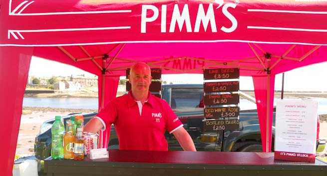 Outdoor Bar with Fridge & Pimms Truck | Patsy Pimms | Pimms Bar